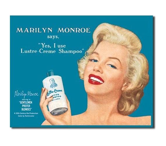 Tin Sign Dorm Room Decor Vintage Marilyn Monroe Shampoo