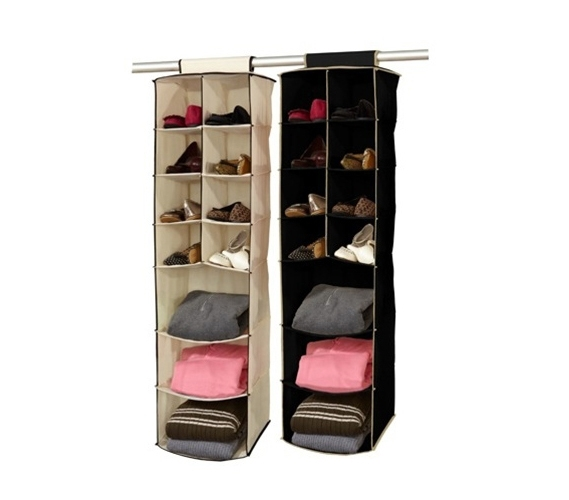 Closet Organization Must Have 3 Shelf 8 Pocket Closet Organizer Black Cream
